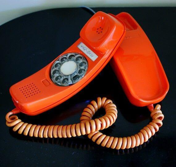 AR Resources - an orange telephone receiver