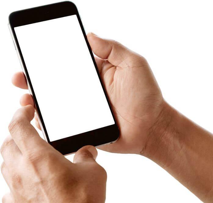 Betz Mitchell Associates - A hand holding a black smartphone
