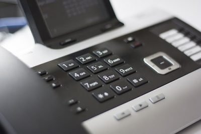 CCB Credit Services - a black telephone